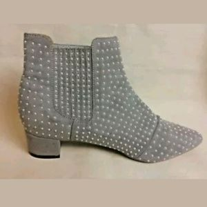 Topshop Studded Chelsea Boots 39